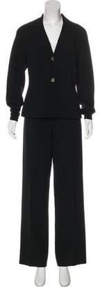 Michael Kors Virgin Wool Mid-Rise Pantsuit