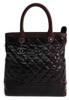 Chanel Burgundy Quilted Aged Calfskin Tote Bag (SHA-10389)