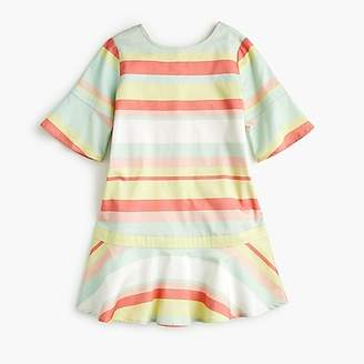 J.Crew Girls' striped drop-waist dress