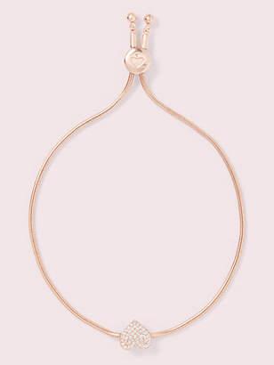 Kate Spade Yours truly pave heart slider bracelet