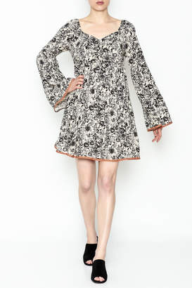 Ces Femme Floral Flare Dress