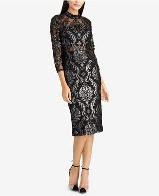 Rachel Roy Foiled Jacquard Sheath Dress
