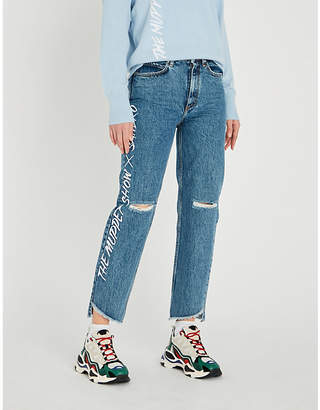 Sandro The Muppet Show x regular-fit high-rise jeans