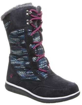 BearPaw Aretha Suede Genuine Sheepskin Footbed Boot