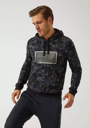 Emporio Armani Sweatshirt With Camouflage Pattern And Ea7 Logo