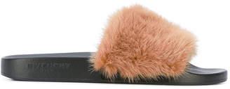 Givenchy mink band slides