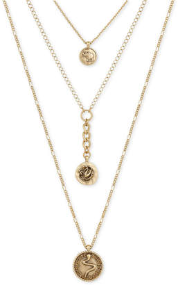 Lucky Brand 3-Layer Charm Necklace