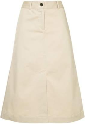 CK Calvin Klein chino twill A-line skirt