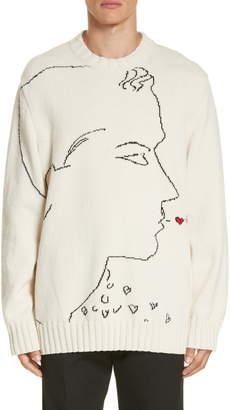 Calvin Klein Print Wool Sweater