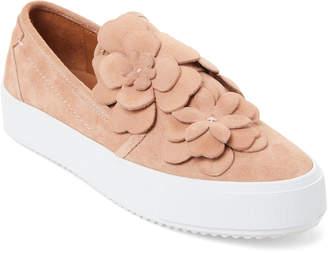 See by Chloe Pastel Pink Floral Suede Platform Sneakers