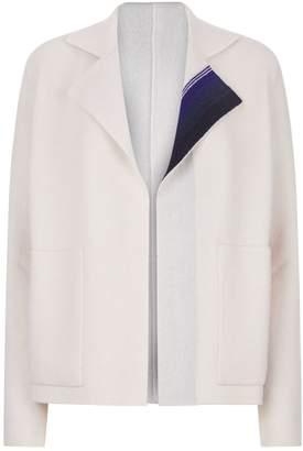 Akris Stripe Detail Cashmere Cardigan