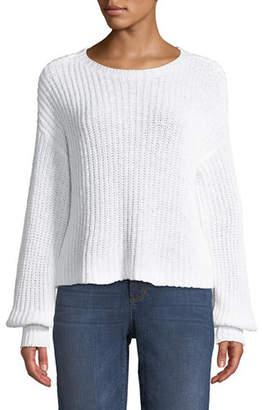 Eileen Fisher Organic Cotton Round-Neck Sweater, Petite