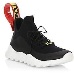 Fendi Men's Knit Think Colorblock Sneakers