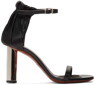 Proenza Schouler Black Leather Heeled Sandals