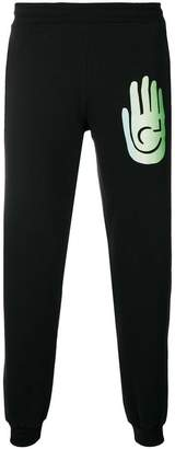 Cottweiler logo print track pants