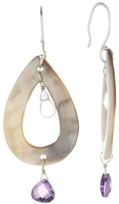 Peyote Bird Abalone Teardrop Dangle Earrings