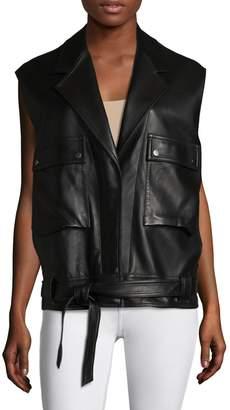 Helmut Lang Women's Leather Belted Vest