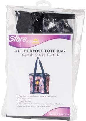 """clear Innovative Home Creations AllPurpose Tote BagBlack 19""""X14""""X6"""""""
