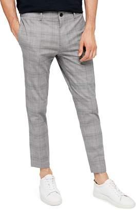 Topman Whyatt Slim Fit Plaid Trousers