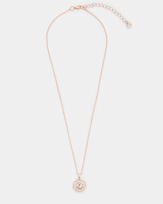Ted Baker SIROU Swarovski daisy lace necklace