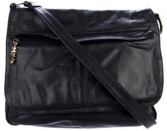 MCM Leather Messenger Bag