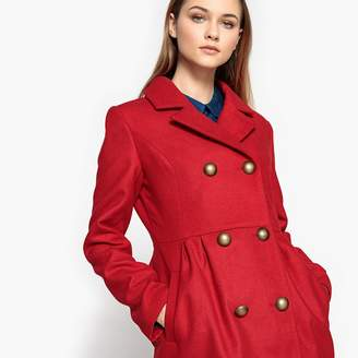 La Redoute Collections Double-Breasted Fitted Coat