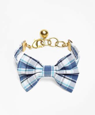 Brooks Brothers Kiel James Patrick Seersucker Plaid Bow Tie Bracelet