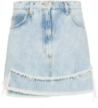 Natasha Zinko high-waisted denim mini skirt