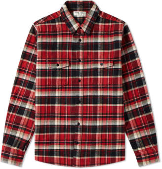 Saint Laurent Heavy Flannel Check Overshirt