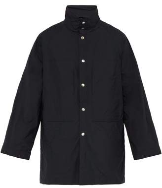 Jil Sander San Salvador Single Breasted Coat - Mens - Dark Blue