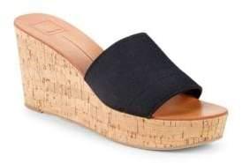 Dolce Vita Barta Leopard Strap Wedge Sandals
