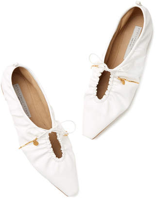 Stella McCartney Pointy Toe Flats with Laces