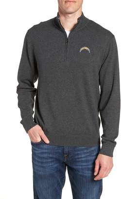 Cutter & Buck Los Angeles Chargers - Lakemont Regular Fit Quarter Zip Sweater