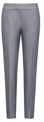 HUGO Boss Patterned Cotton Blend Pant Hevas 2 Black