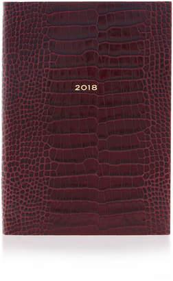 Smythson Soho Mara Embossed Leather 2018 Diary