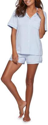 Pour Les Femmes Bamboo Shorty Pajama Set