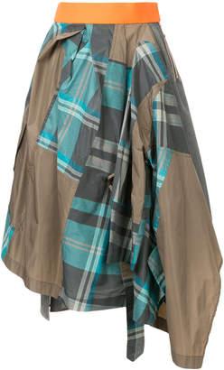 Kolor patchwork napkin skirt