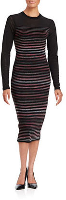 Rachel Rachel Roy Striped Three-Quarter Sleeve Sheath Dress $159 thestylecure.com