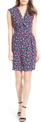 Women's Anne Klein Adagio Print Faux Wrap Dress $119 thestylecure.com