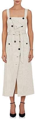 Altuzarra Women's Audrey Pinstriped Stretch-Cotton Trench Dress