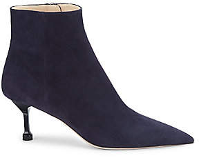 Prada Women's Point-Toe Suede Ankle Boots