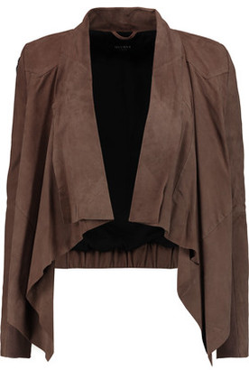 Muubaa Chester Draped Suede Jacket $450 thestylecure.com