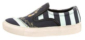 Mother of Pearl Canvas Slip-On Sneakers
