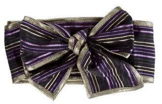 Marc Jacobs Metallic Striped Belt