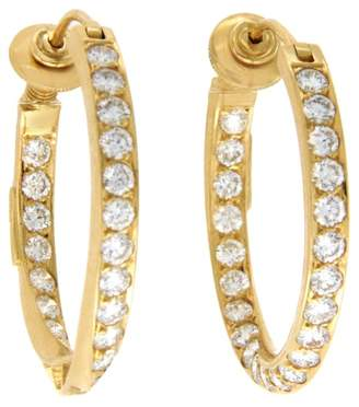H.Stern 18K Yellow Gold and 4.85ct Diamonds Hoop Earrings