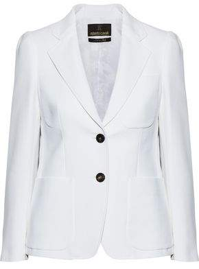 Roberto Cavalli Cotton And Silk-Blend Twill Blazer