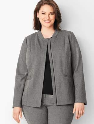 Talbots Italian Luxe Knit Herringbone Zip-Front Jacket