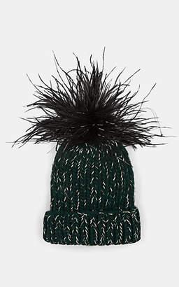 Eugenia Kim Women's Rain Chunky Rib-Knit Wool-Blend Beanie - Green