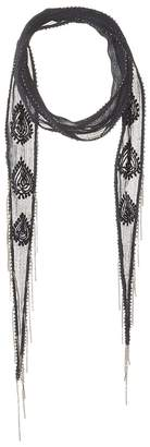 Chan Luu Paisley Amulet Embroidered Long Skinny Scarf Scarves