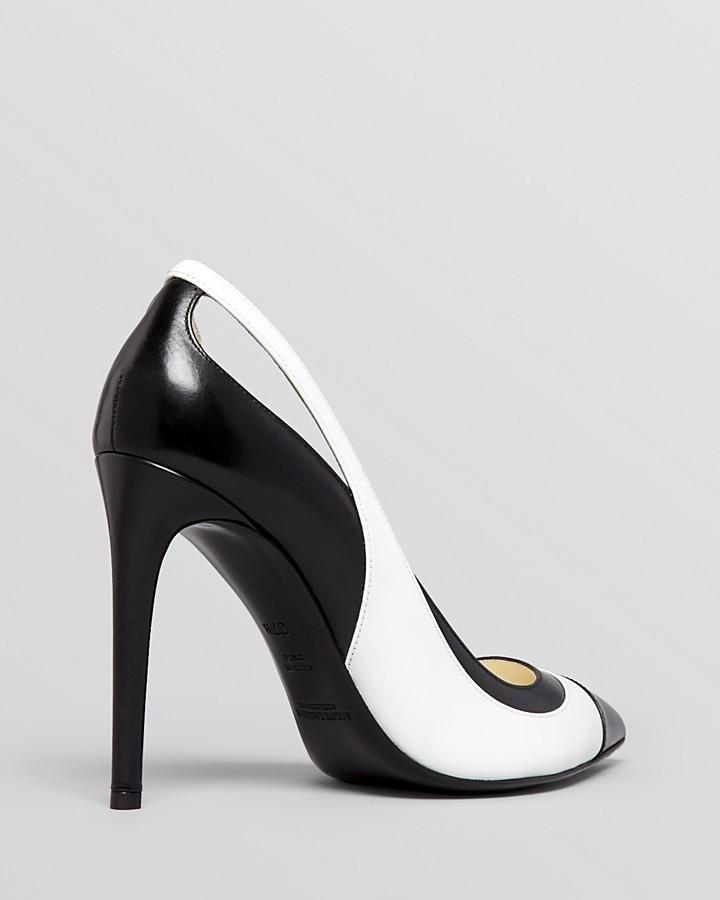 Ralph Lauren Pointed Toe Cap Toe Spectator Pumps - Cemissa High Heel